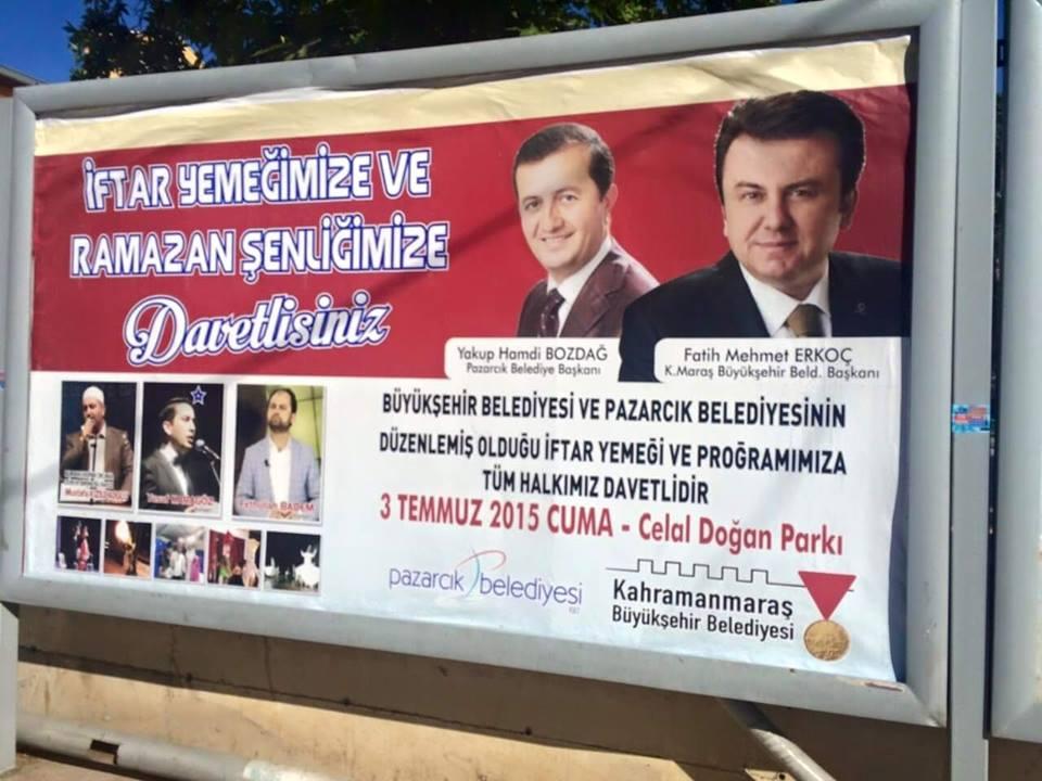 kahramanmaraş afiş